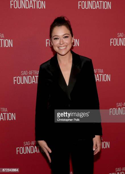 Tatiana Maslany attends the SAGAFTRA Foundation Patron of the Artists Awards 2017 at the Wallis Annenberg Center for the Performing Arts on November...