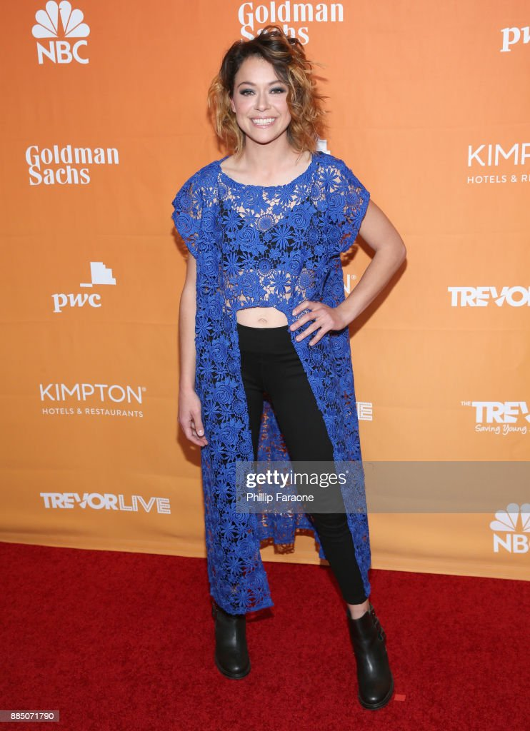 Tatiana Maslany attends The Trevor Project's 2017 TrevorLIVE LA Gala at The Beverly Hilton Hotel on December 3, 2017 in Beverly Hills, California.