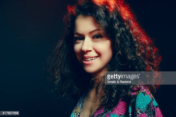 Tatiana Maslany poses for a portrait in the Getty Images SXSW Portrait Studio Powered By Samsung on March 13 2016 in Austin Texas