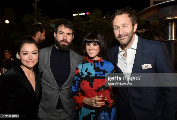 Tatiana Maslany Tom Cullen Dawn O'Porter and Chris O'Dowd attend the SAGAFTRA Foundation Patron of the Artists Awards 2017 at the Wallis Annenberg...
