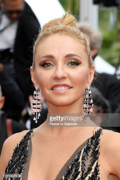 Tatiana Navka attends the screening of Oh Mercy during the 72nd annual Cannes Film Festival on May 22 2019 in Cannes France