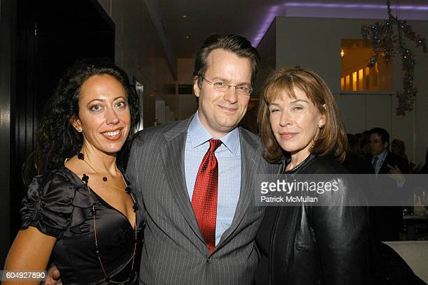Tatiana Platt Billy Kimble and Sara Colleton attend A Cocktail Party Celebrating the Engagement of Jay McInerney and Anne Hearst at Tatiana and...