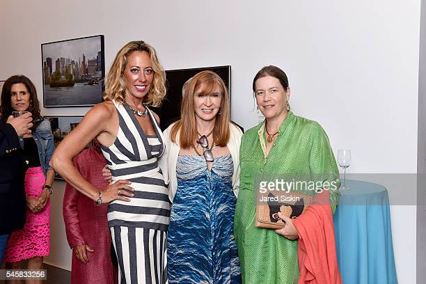 Tatiana Platt Nicole Miller and Ariadne CalvoPlatero attend the Midsummer Party 2016 at Parrish Art Museum on July 9 2016 in Water Mill New York