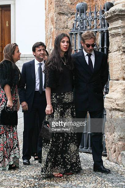 Tatiana Santo Domingo and Andrea Casiraghi attend the wedding of Lady Charlotte Wellesley and Alejandro Santo Domingo at Illora on May 28, 2016 in...