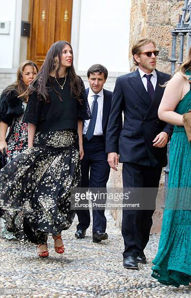 Tatiana Santo Domingo and Andrea Casiraghi attend the wedding of Lady Charlotte and Alejandro Santo Domingo's wedding on May 28, 2016 in Granada,...