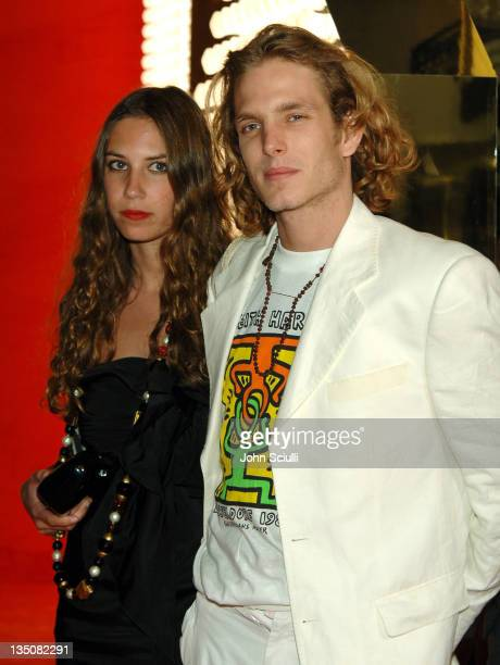 Tatiana Santo Domingo and Andrea Casiraghi during 2006 Cannes Film Festival Dolce Gabbana Party at Hotel Martinez in Cannes France