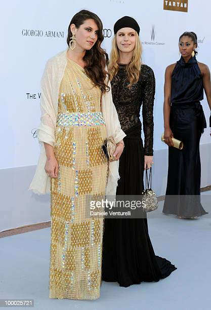 Tatiana Santo Domingo and Eugenia Niarchos arrives at amfAR's Cinema Against AIDS 2010 benefit gala at the Hotel du Cap on May 20 2010 in Antibes...