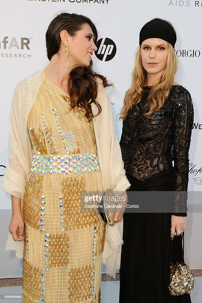 Tatiana Santo Domingo and Eugenia Niarchos attend the '2010 amfAR's Cinema Against AIDS' Gala