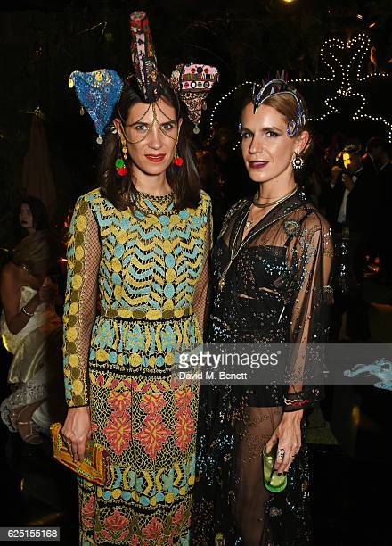 Tatiana Santo Domingo and Eugenie Niarchos attend The Animal Ball 2016 presented by Elephant Family at Victoria House on November 22 2016 in London...