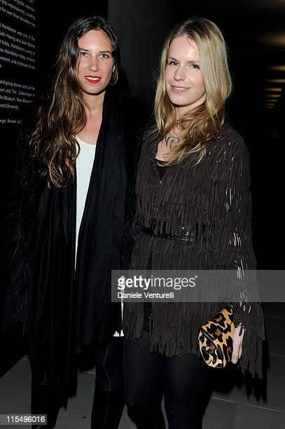 Tatiana Santo Domingo and Eugenie Stavros attend Richard Hambleton Exhibition during Milan Fashion Week Womenswear Autumn/Winter 2010 show on...