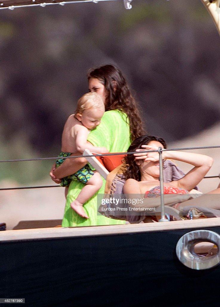 Andrea Casiraghi and Tatiana Santo Domingo Sighting in Ibiza - July 25, 2014 : News Photo