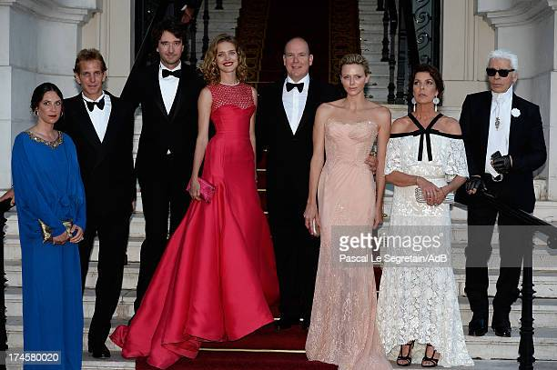Tatiana Santo Domingo Andrea Casiraghi Antoine Arnault Natalia Vodianova Prince Albert II of Monaco Princess Charlene of Monaco Princess Caroline of...