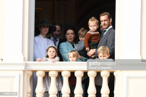 Tatiana Santo Domingo Andrea Casiraghi Princess Caroline of Hanover Pierre Casiraghi with Francesco Casiraghi India Casiraghi Stefano Casiraghi and...