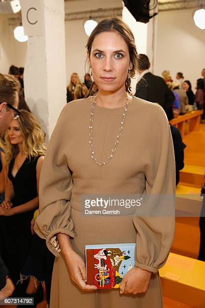 Tatiana Santo Domingo attends the Emilia Wickstead show during London Fashion Week Spring/Summer collections 2016/2017 on September 17 2016 in London...