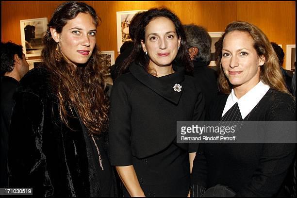 "Tatiana Santo Domingo, Princess Olga of Greece, Princess Zahra Aga Khan at Exhibition Opening Of Yul Brynner's ""A Photographic Journey"" At Galerie Du..."