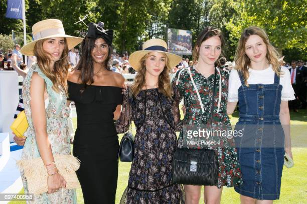 Tatiana Silva Alice Isaaz and Christa Theret attend the 'Prix de Diane Longines 2017' on June 18 2017 in Chantilly France