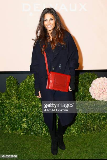 Tatiana Silva attends the Delvaux cocktail party during Paris Fashion Week Womenswear Fall/Winter 2017/2018 at Jardin du Palais Royal on March 5 2017...
