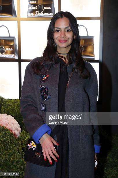 Tatiana Silva Braga Tavares attends Delvaux Cocktail Paris Fashion Week Womenswear Fall/Winter 2017/2018 at Jardin du Palais Royal on March 5 2017 in...