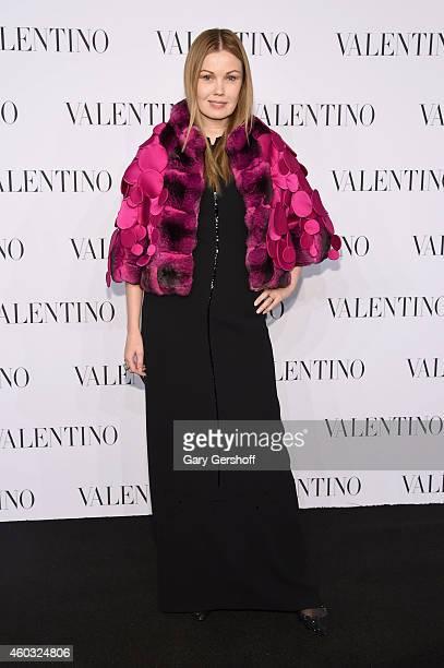 Tatiana Sorokko attends the Valentino Sala Bianca 945 Event on December 10 2014 in New York City