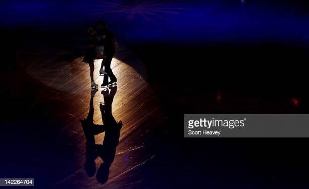 Tatiana Volosozhar and Maxim Trankov of Russia perform during the ISU World Figure Skating Championships Gala Exhibition on April 1 2012 in Nice...
