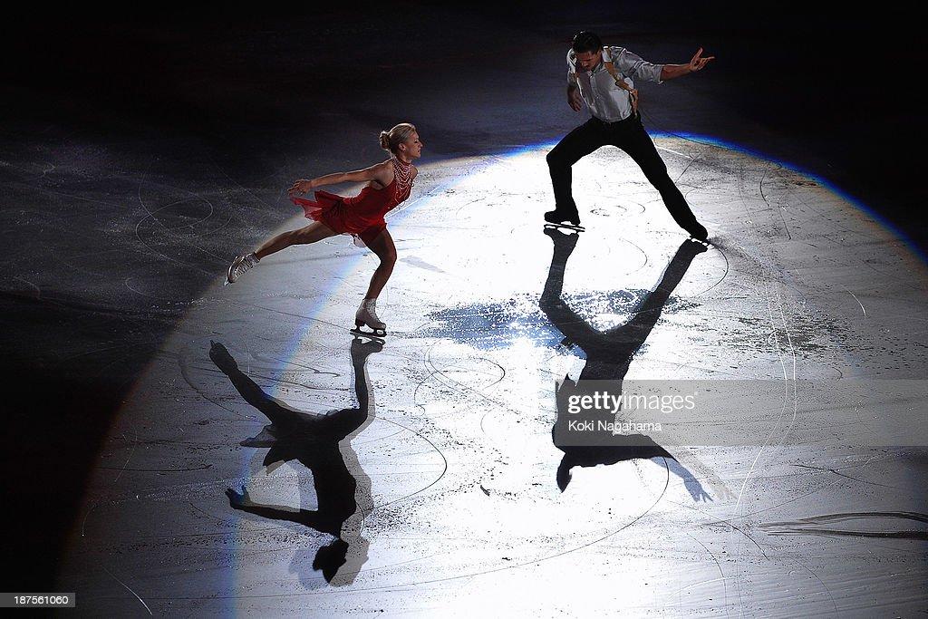 Tatiana Volosozhar Maxim Trankov of Russia perform in the Gala Exhibition during day three of ISU Grand Prix of Figure Skating 2013/2014 NHK Trophy at the Yoyogi National Gymnasium on November 10, 2013 in Tokyo, Japan.