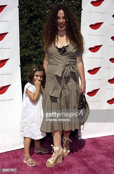 Tatiana von Furstenberg and her daughter Antonia Steinberg arrive at a luncheon celebrating the opening of Diane von Furstenberg's Melrose Place...