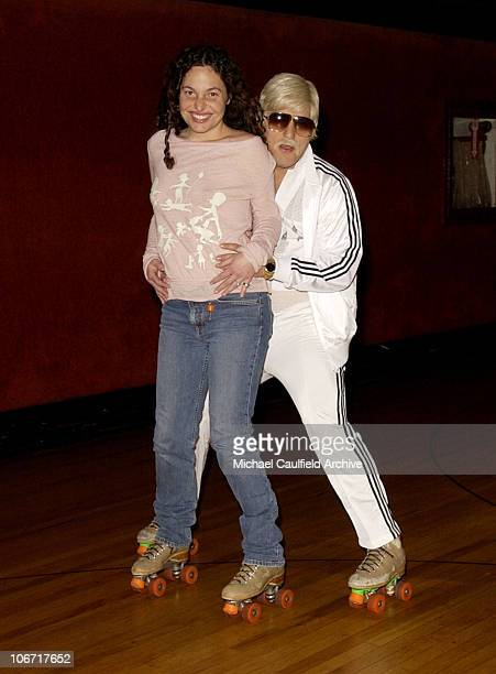 Tatiana von Furstenberg and Johnny Fayva during Smirnoff Ice Triple Black Hosts an 80's Roller Skating Holiday Party at the Moonlight Rollerway in...