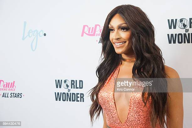 Tatianna poses for a photo during the RuPaul's Drag Race All Stars season two premiere at the Crosby Street Hotel on August 23 2016 in New York City