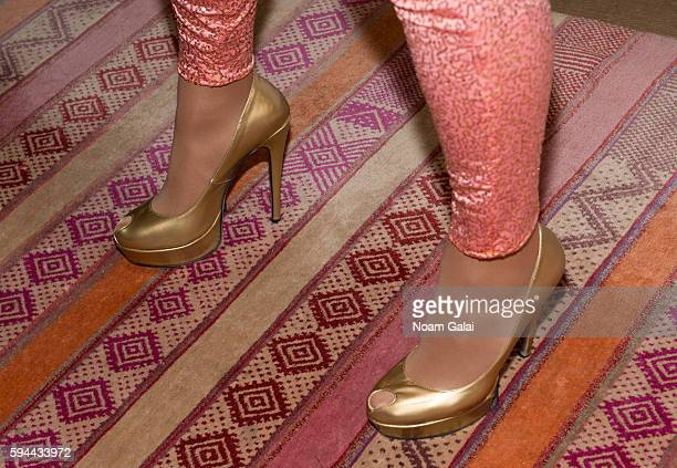 Tatianna shoe detail attends the RuPaul's Drag Race All Stars season two premiere at Crosby Street Hotel on August 23 2016 in New York City