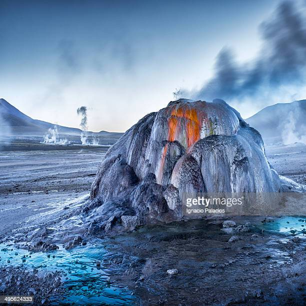 Tatio Geysers at sunrise, Atacama Desert
