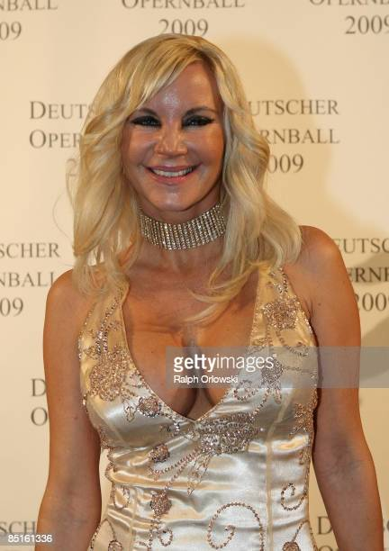 Tatjana Gsell arrives for the German Opera Ball 2009 at the Alte Oper on February 28 2009 in Frankfurt Germany