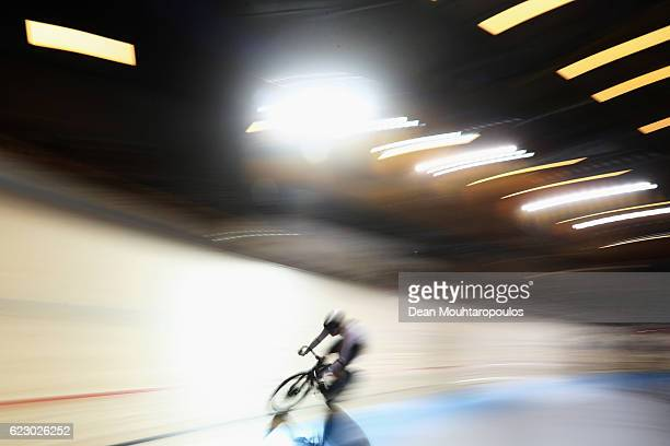 Tatjana Paller of Germany competes in the Women's Points Race Final during the Tissot UCI Track Cycling World Cup 20162017 held at the sport centre...