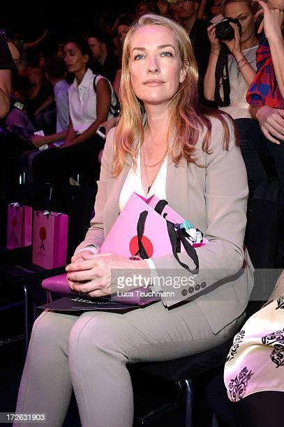 Tatjana Patitz attends the Marc Cain Show during the MercedesBenz Fashion Week Spring/Summer 2014 at Brandenburg Gate on July 4 2013 in Berlin Germany