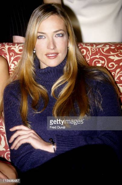 Tatjana Patitz during 1995 Pirelli Calendar Launch in London Great Britain