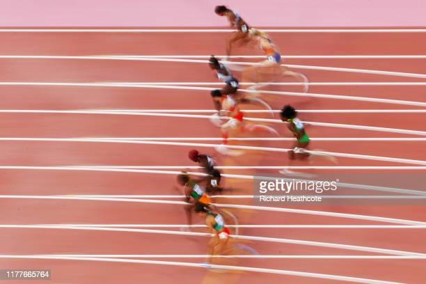 Tatjana Pinto of Germany, Marije Van Hunenstijn of the Netherlands, Daryll Neita of Great Britain, Yongli Wei of China, Gorete Semedo of Sao Tome and...