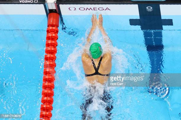 Tatjana Schoenmaker of Team South Africa competes in the second Semifinal of the Women's 200m Breaststroke on day six of the Tokyo 2020 Olympic Games...