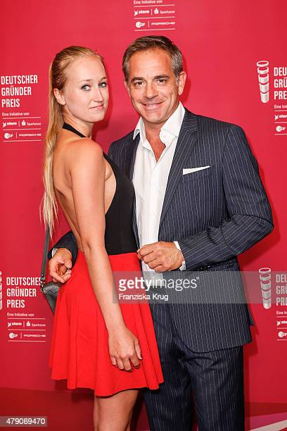 Tatjana Thinius and Florian Fitz attend the Deutscher Gruenderpreis 2015 on June 23 2015 in Wetzlar Germany