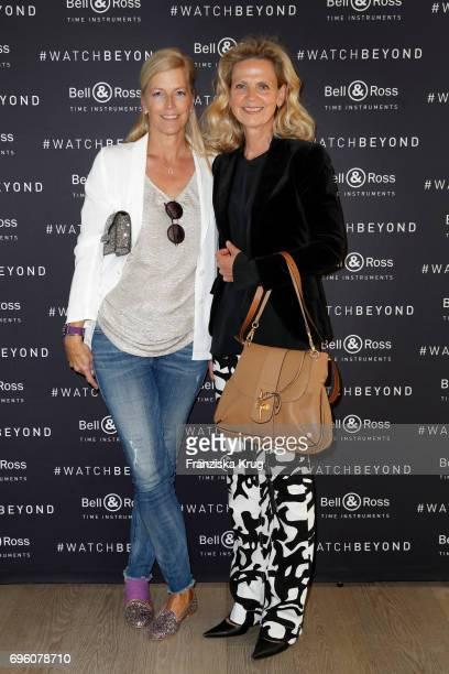Tatjana von Keller and Verena von Strasoldo attend the Bell Ross Cocktail Party at Elbphilharmonie show apartment on June 14 2017 in Hamburg Germany