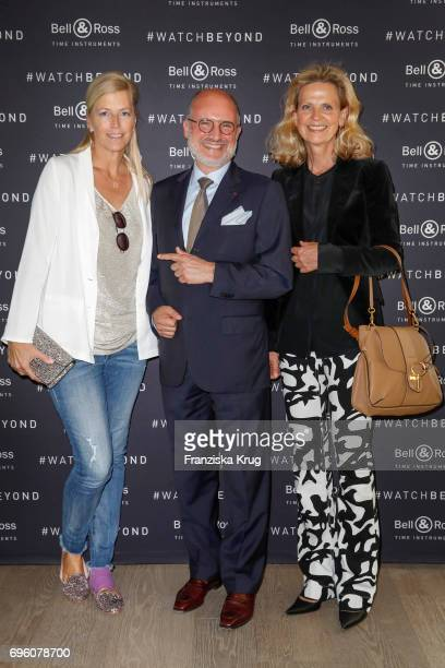 Tatjana von Keller Carlos Rosillo founder and CEO of Bell Ross and Verena von Strasoldo attend the Bell Ross Cocktail Party at Elbphilharmonie show...