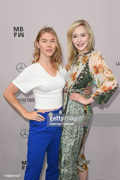 Tatjana Wiedemann and Theresia Fischer attend the Irene Luft show during the Berlin Fashion Week Spring/Summer 2020 at ewerk on July 02 2019 in...