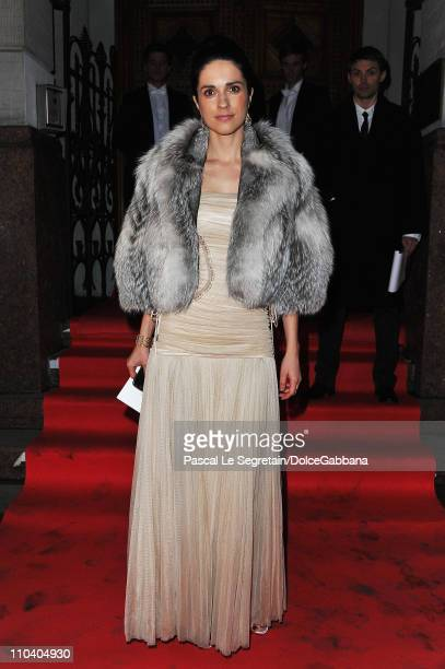 Tatler magazine editor in chief Ksenia Solovieva attends the DolceGabbana and Martini dinner at the Italian Ambassador's residence on March 17 2011...