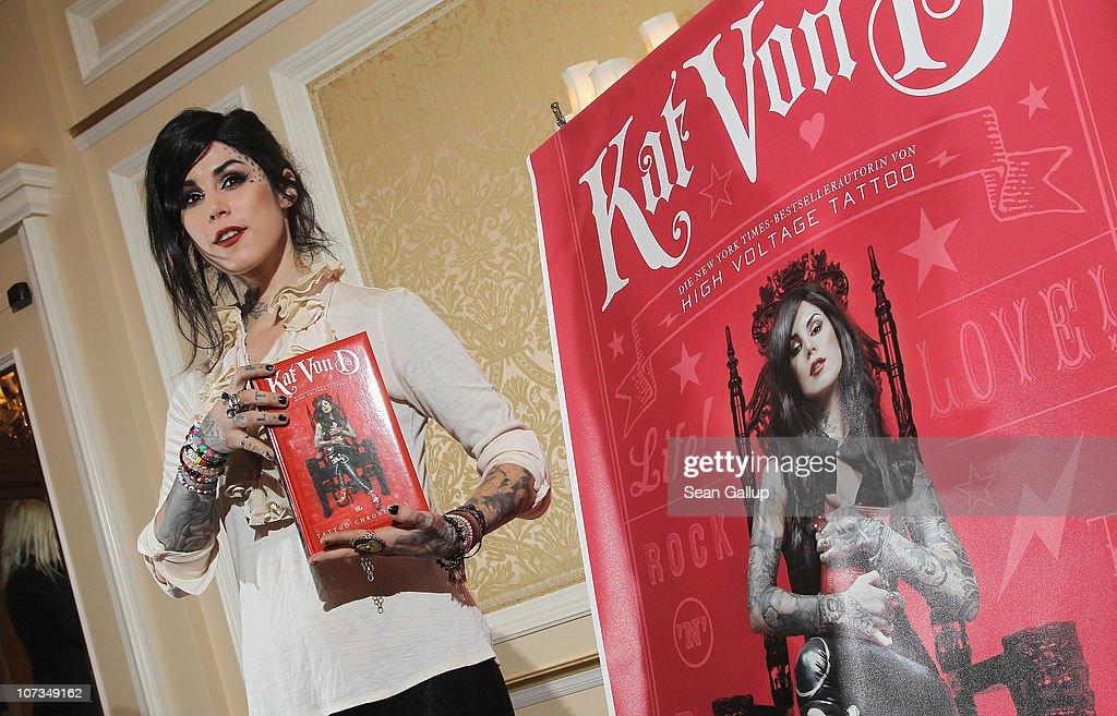Kat Von D Book Presentation : News Photo