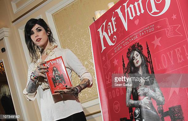 Tatoo artist Kat Von D presents her latest book 'The Tattoo Chronicles' at the Regent Hotel on December 6 2010 in Berlin Germany