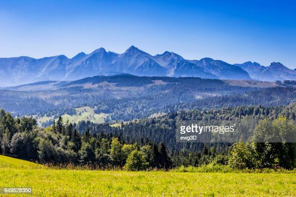 Tatra Mountains landscape in summer, Poland