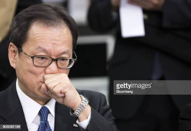 Tatsufumi Sakai president and chief executive officer of Mizuho Securities Co attends a news conference in Tokyo Japan on Monday Jan 15 2018 Mizuho...