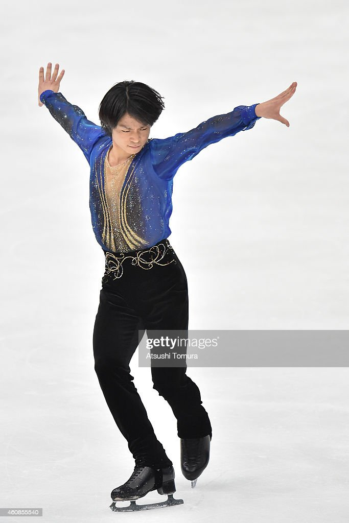Tatsuki Machida of Japan competes in the Men's Free Skating during the 83rd All Japan Figure Skating Championships at the Big Hat on December 27, 2014 in Nagano, Japan.