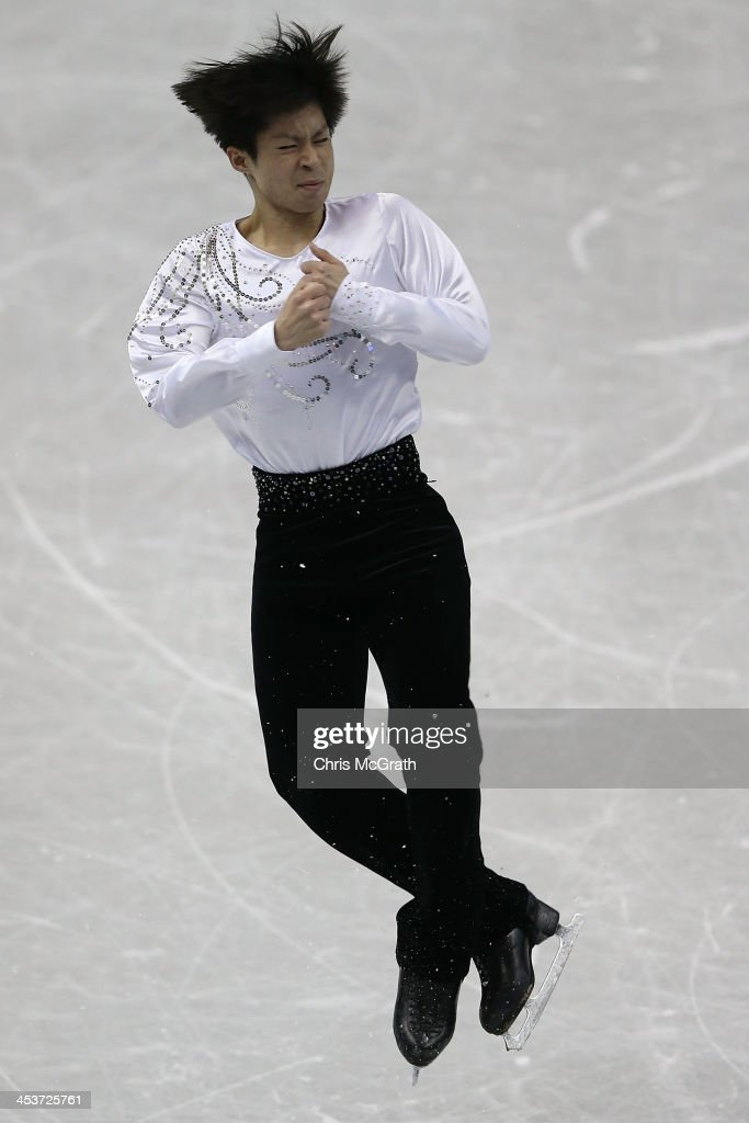 Tatsuki Machida of Japan competes in the Men's Short Program during day one of the ISU Grand Prix of Figure Skating Final 2013/2014 at Marine Messe Fukuoka on December 5, 2013 in Fukuoka, Japan.