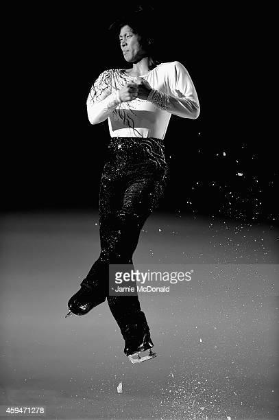 Tatsuki Machida of Japan performs during day three of Trophee Eric Bompard ISU Grand Prix of Figure Skating at the Meriadeck Ice Rink on November 23...