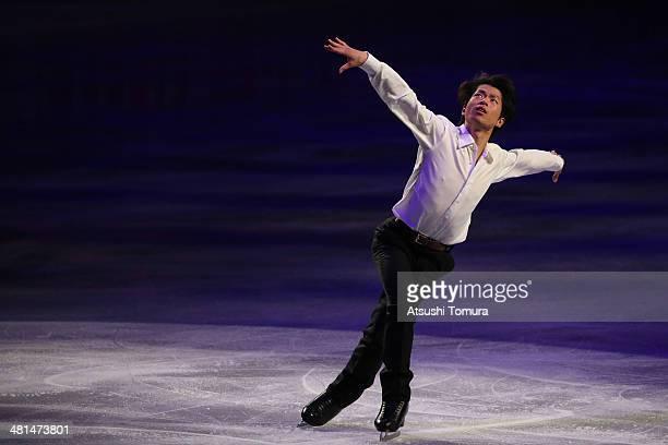Tatsuki Machida of Japan performs his routine in the exhibition during ISU World Figure Skating Championships at Saitama Super Arena on March 30 2014...
