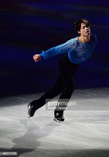 Tatsuki Machida of Japan performs his routine in the Gala exhibition during All Japan Figure Skating Championships at Saitama Super Arena on December...